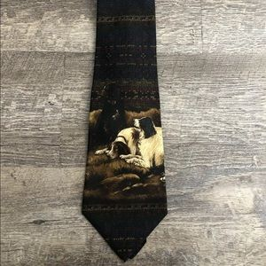 Polo Ralph Lauren Dog Print Silk Tie (A1)